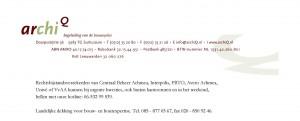 archiQ contactgegevens landelijke dekking archiQ.nl
